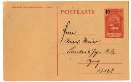 Liechtenstein Entier Stationery Stationary Ganzsache - LBK N° 6 - Postwaardestukken