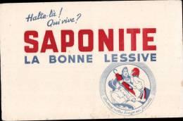 """BUVARD PUBLICITAIRE """" SAPONITE """" LA BONNE LESSIVE - Autres"""