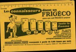 "BUVARD PUBLICITAIRE "" FRIGECO - Autres"