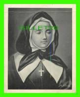 RELIGIONS - DESSIN D'ALBERT FERLAND - VÉNÉRABLE MARGUERITE BOURGEOIS (1620-1700) - DIMENSION 11X14 Cm - - Religion & Esotérisme