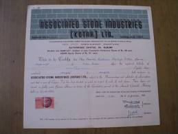 Associated Stone Industries Kotah Ltd 1969 Scarce Hard To Get Share Certificate India - Industry