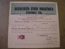 Associated Stone Industries Kotah Ltd 1973 Scarce Hard To Get Share Certificate India - Industry