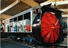 CPM 68 (Haut-Rhin) Mulhouse, Musée Du Chemin De Fer - Chasse-neige ZR 1 P.O. (1908) - Matériel