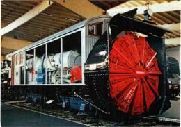 CPM 68 (Haut-Rhin) Mulhouse, Musée Du Chemin De Fer - Chasse-neige ZR 1 P.O. (1908) - Equipment