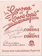 Buvard Corona Et Trois Epis - Papeterie