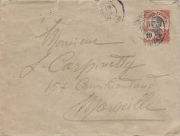 MARCOPHILIE, 1908, Indochine, Entier Lettre 10c , TOURANE ANNAM Pour MARSEILLE /3420 - Indocina (1889-1945)