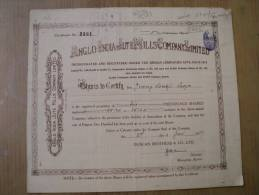 Anglo India Jute Mills Company Ltd 1947 Scarce Hard To Get Share Certificate India - Industry