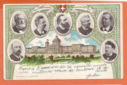 U117,Schweizerischer Bundesrat 1900, Parlement, Zemp,brenner,müller,ruchet , Précurseur, Circulée 1901 - Switzerland