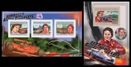 GUINEA 2012 - Gilles Villeneuve, Cars. M/S + S/S. Official Issue - Voitures