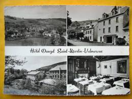 Cpsm 15 SAINT MARTIN VALMEROUX Multivues HOTEL DAUZET Ganterie CHANUT - Autres Communes