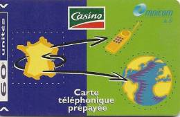 CARTE PREPAYEE-OMNICOM-60U-CASINO31/12/1999-T BE - France