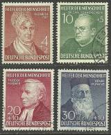 Deutschland BRD 1953 Wohlfahrt Helfer Der Menschheit Michel 156 - 159 MNH/ O - [7] Federal Republic
