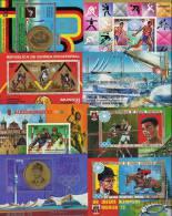 Sport-Motiv Äqatorial Guinea 8 Block **/o 17€ Olympia Reiten Lauf Boxen Flying Kanu Segeln Dressur Sport Sheet Bf Africa - Collections (en Albums)