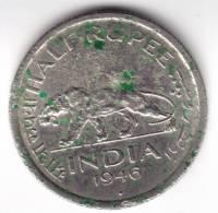 @Y@    BRITISH INDIA  1/2   Rupee 1946     (2225) - Inde