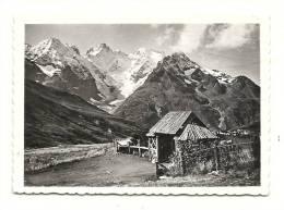 Photo, Lieux, Col Du Lautaret  (05) - Jardin Alpin, Glacier De L'Homme, Et Massif De La Meije - Dim. : 9 X 6.5 Cm - Lieux