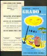 2x Old Prospekt Depliant Grado Albergi Hotels Gorizia Art Deco Tourist Brochure Italia - Pubblicitari