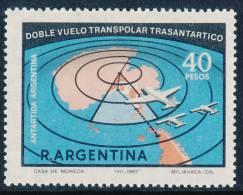 ARGENTINA ANTARTIDA 1967 Round Transantarctic Transpolar Flight 1v** - Polar Flights