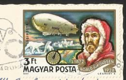 HOTEL BUDAPEST Hungary Ungarn Stamp Roald Amundsen Norge 1977 - Hongrie