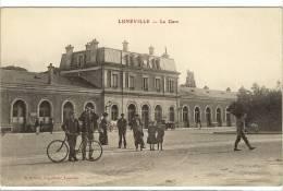 Carte Postale Ancienne Lunéville - La Gare - Chemin De Fer - Luneville