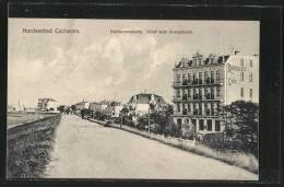 AK Cuxhaven, Deichpromenade, Hotel Zum Kronprinzen - Cuxhaven