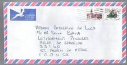 Lettre Cover Par Avion Via Air Mail De RSA Afrique Du Sud Pour La France - CAD ?ermistor 11-01-1990 / 2 Tp Ville & Fleur - Afrique Du Sud (1961-...)