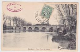 (RECTO / VERSO) MANTES EN 1907 - VIEUX PONT DE LIMAY - Villennes-sur-Seine