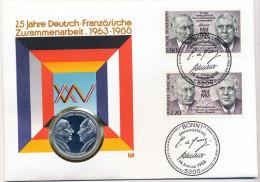25 Jahre Deutsch-Französische Zusammenarbeit . 1963-1988 - Souvenir-Medaille (elongated Coins)