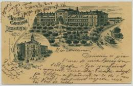 2950- Suisse - LAUZANNE :  HOPITAL CANTONAL - Lithographie :Ls Magnenat Et Fils Lauzanne   1903 - VS Valais