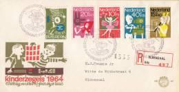 Nederland - E69 Aangetekend/Recommandé - Aantekenstrookje Oldenzaal 497 - NVPH 830 - 834 - FDC