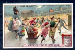 Chromo - Liebig Bouillon OXO - Scènes De Carnaval - Sur La Glace à Milan - Liebig