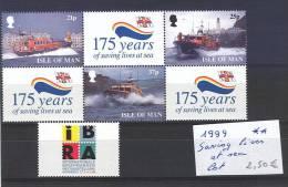 Isle Of Man: Bloc:saving Lives At Sea:1999 - Man (Insel)