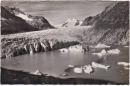 RARE SUISSE  Le Lac De Marjelen Et Le Glacier D Aletsch  Carte Photo - Suisse
