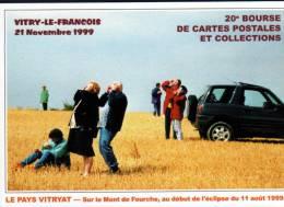 51 - VITRY LE FRANCOIS - 21 NOVEMBRE 1999 - 20ème BOURSE CARTES POSTALES ET COLLECTIONS - CPM - Bourses & Salons De Collections