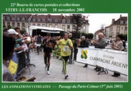 51 - VITRY LE FRANCOIS - 18 NOVEMBRE 2001 - 22ème BOURSE CARTES POSTALES ET COLLECTIONS - CPM - Bourses & Salons De Collections