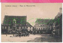 67 : MOLSHEIM Place De L'hotel De Ville , Belle Animation - Molsheim