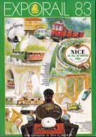 06 - NICE  - 25 AU 29 MARS 1983 - EXPO RAIL 83.- CPM - Bourses & Salons De Collections