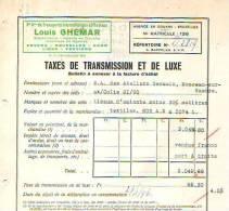 Bruxelles - 1946 - Louis Ghémar -Sté Ame De Transports Internationaux Et Fluviaux - Transport