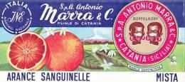 VECCHIA LOCANDINA PUBBLICITARIA -ARANCE SANGUINELLE -DITTA A. MARRA -CATANIA - Advertising