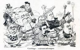 Cortege Carnavalesque Hommes Politiques (Fallieres) En Animaux -jupons - Satirische
