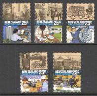 New Zealand 1986 Police Centenary Set Of 5 Used - Used Stamps