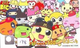 CARTE McDonald's JAPON (178) MacDonald's * McDonald´s   JAPAN *  U CARD - Advertising