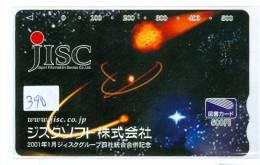 Télécarte Japon ESPACE (390) Phonecard JAPAN * SPACE SHUTTLE * NASDA * PLANETE * GLOBE - Espace