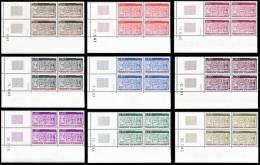 ANDORRE 1983 - Yv. 316 à 324 ** TB Bloc De 4 Coin Daté  Cote= 23,50 EUR - Type Ecu Primitif (9 Valeurs) ..Réf.AND23817 - Andorra Francese