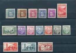 ANDORRE 1936-1944 Y&T 48,49,50,51,52,79,82,93,94,95,96,97,99,102,103,128* Cote 6,9 - Neufs
