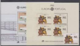Portugal Europa Cept 2 Mini Sheets 1987,1988 MNH ** - 1910-... República
