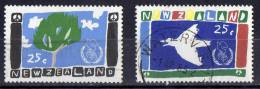 New Zealand 1986 Peace Set Of 2 Used - Used Stamps