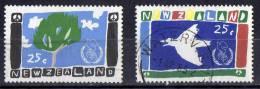 New Zealand 1986 Peace Set Of 2 Used - New Zealand