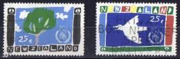 New Zealand 1986 Peace Set Of 2 Used - - New Zealand