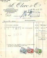 Bruxelles - 1943 - A.Clerc & Cie - Papeterie Spéciale Pour Le Commerce Et L'industrie - Imprimerie & Papeterie