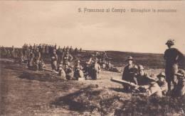 ALPINO-S.FRANCESCO AL CAMPO MITRAGLIERI IN POSTAZIONE ALPINI MITRAGLIERIA DI MONTAGNA BELLA FOTO D´EPOCA ORIGINALE 100% - Manovre